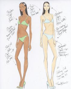 Rendering using 4H Pencil, Copic Markers and Berol  Prisma Color Pencils on Borden & Riley #37 Marker Layout Paper of The 3/4 View Fashion Figure -Renaldo Barnette