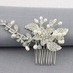 Fashion Crystal Flora Bridal Hair Comb Leaf Flower Style Wedding Hair Accessories Bride Jewelry Bridesmaid Gift