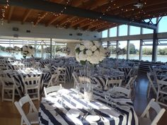 Nautical Themed | Summer Wedding Reception in our Event Hall | John M.S. Lecky UBC Boathouse