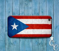 *BoutiqueHouse* iPhone 4 4s 5 5s 5c SE 6 6s Plus iPod Touch 4th 5th 6th Gen Cool Custom Puerto Rico National Country Flag Case Cute Red Blue Phone Cover(iPhone SE). personalized phone case. best phone case for iphone. Allows easy access to all ports and f