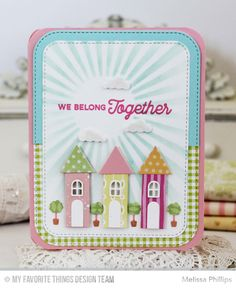 Card home house tree trees MFT home sweet home Die-namics MFT No Place like Home stamp set #mftstamps LilyBean Paperie