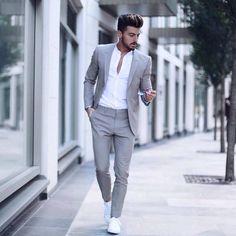 Suit fashion - Men's Classic Solid Color Slim Suit Set Slim Suit, Herren Outfit, Mode Masculine, Mens Fashion Suits, Fashion Clothes For Men, Fashion Night, Winter Fashion, Mens Clothing Styles, Apparel Clothing