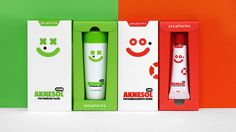 Aknesol - funny #pharmaceutical #packaging #design on Behance