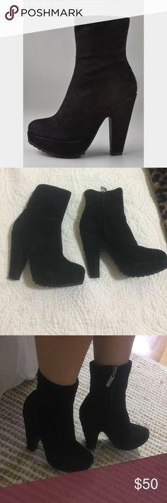 Dolce Vita Suede Platform Booites Comfortable suede platform booties. Dolce Vita Shoes Heeled Boots