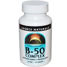 Source Naturals, ビタミンB50コンプレックス, 50 mg, 100錠 - iHerb.com