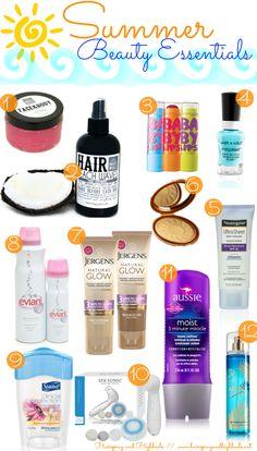 Summer Beauty Essentials   via @Hairspray and HighHeels