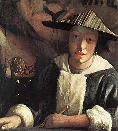 Vermeer, Young Girl with a Flute,1666-67
