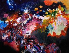 I See Music Because I Have Synesthesia, So I Decided To Paint What I Hear | Bored Panda Radiohead, Jimi Hendrix, David Bowie, Police Radio, Dangerous Minds, Colorful Paintings, Abstract Paintings, Abstract Art, Melissa Mccracken