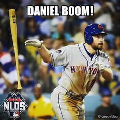 That's right. Daniel Murphy. Again. • The Mets defeat the Dodgers in the 2015 #NLDS #OwnOctober