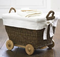 Cute basket on wheels