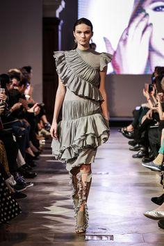Fringe grey dress