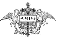 amdg at the top of every page we wrote in school. Ad Majorem Dei Gloriam All for the Glory of God Catholic Missal, Catholic Art, Religious Art, Christian Tattoos, Christian Symbols, Image Icon, Albrecht Durer, Sacred Art, Gravure