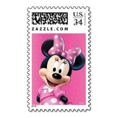 (Minnie Pink and White Birthday Postage) #BirthdayParty #Disney #GirlBirthday #Minnie #MinnieBirthday #MinnieMouse is available on Famous Characters Store   http://ift.tt/2bibMRA