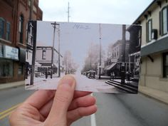 Madison Street downtown Greenwood Indiana Then and Now