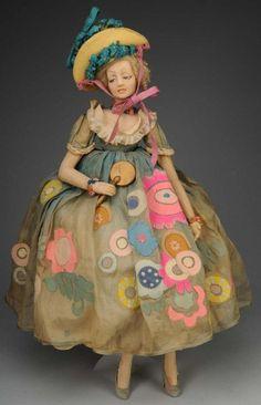 Lovely Lenci Cloth Long-limbed Lady Doll. : Lot 1021