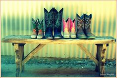 Family cowboy boots by suzoc, via Flickr