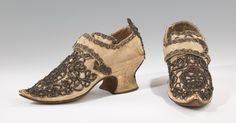 1690–1729 Culture: probably British Medium: silk, metal shoes
