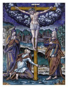 Plaque: la Crucifixion par PIERRE REYMOND - Musée national de la Renaissance (Ecouen)