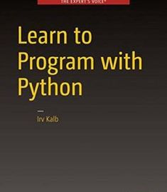 Learn To Program With Python PDF