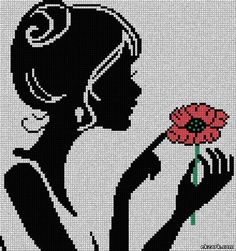 Download free cross-stitch design - change flower to a daisy?