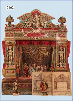 Old Toy Theater from c1900 via http://spielzeugauktion.de/index.php?page=Archiv=22=3=22