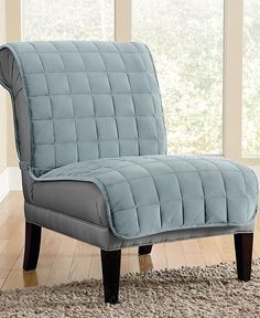 Sure Fit Velvet Deluxe Pet Armless Chair Slipcover with Sanitize Odor Release
