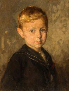 Porträt eines Knaben by Simon Glucklich 1863-1943