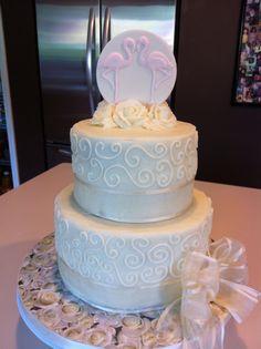 Flamingo Wedding Cake