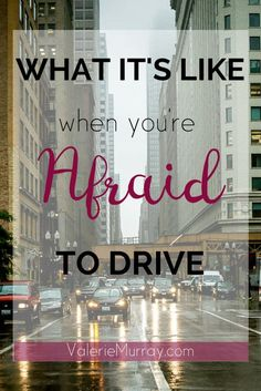 What it's like when you're afraid to drive:Do you avoid going to places because you're afraid to drive? The fear of driving is listed as one of the top 12 fears to have. If you struggle with this fear then you know how it can limit you. Perhaps you have a loved one who needs your support. One way you can show support is by trying to understand what it's like. Facing this fear isn't easy but with some determination and with God's strength you can be set free!