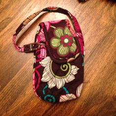 Vera Bradley cell phone carrier. Fits older phones Retired Vera Bradley pattern for older cell phones Vera Bradley Bags Clutches & Wristlets