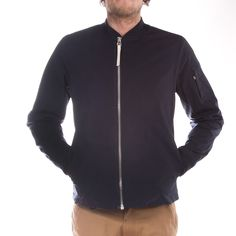 Norse Projects Ryan Ripstop (Dark Navy) Norse Projects, Dark Navy, Bomber Jacket, Mens Tops, T Shirt, Jackets, Style, Fashion, Down Jackets