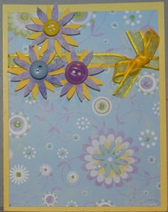 Blue and yellow really make this card pop.