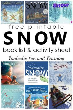 Books about Snow and Snowflakes. Snow Book List with free printable book list and Perfect Snow Day writing activity sheet for preschool and kindergarten #winter #preschool #kindergarten #freeprintable