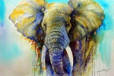 Arti's art -- Life as I see it: Gentle Giant- Elephant Painting Sold
