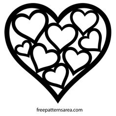 Love Valentine's Day Art Heart Shaped Free Vector Image File