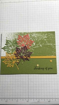 Colorful Seasons- Stampin' Up! Fall Cards, Holiday Cards, Leaf Cards, Stamping Up Cards, Thanksgiving Cards, Get Well Cards, Sympathy Cards, Halloween Cards, Creative Cards