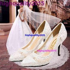 Hot Sale Women Cutout Satin Fabrichigh Heel Sexy Lace Wedding Shoes Shallow Mouth Pointed Toe Genuine Leather Bride Pumps from Highquality2015,$41.89 | DHgate.com