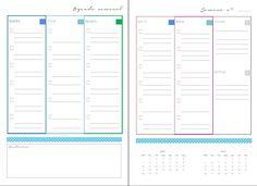 Agenda semanal com priorização diária