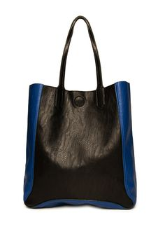 Nice bag....love the blue; ShopSosie Style : City Contra Tote