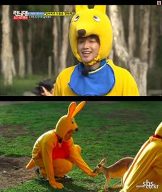"""Why are Rain and Kim Woo Bin dressed like this?  Find out in """"Running Man!"""""""