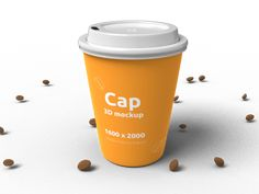 Upload your own texture and change the color of the cap. Rotate the scene and export your render. Contact us if you would like to have a custom design. 3d Templates, Buy Images, Edit Online, 3d Design, Mockup, Coffee Cups, Scene, Cap, Change