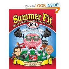AWESOME Summer workbook using Common Core and incorporates fitness, health and nutrition!
