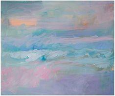 "Ellen Levine Dodd - ""Foggy Morning Beach Break"" - Acrylic on stretched canvas - 24"" x 20"" - sold on Serena Lily (serenaandlily.com)"