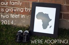 sharing the news before the adopted child comes home- international adoption announcement idea (Texas Lovebirds)