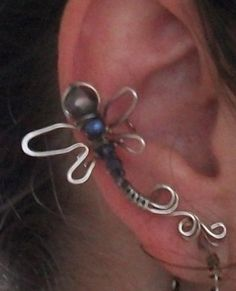 This lesson shows how to develop a whimsical dragonfly ear cuff.