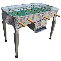 Vintage Super Estadio Foosball Table MidCentury Modern, Metal, Wood, Game Table by Adesso Eclectic Imports