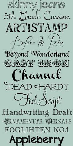 New free fonts.