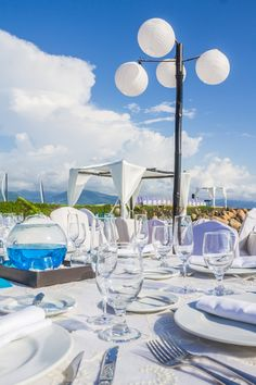 Beautiful at Velas Vallarta Pacific Blue, Puerto Vallarta, Honeymoon Destinations, Ocean, Table Decorations, Beach, Wedding, Beautiful, Home Decor