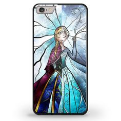 elsa anna disney stained glass iPhone Samsung Galaxy TPU Rubber Case Protector #TPUCaseDesign