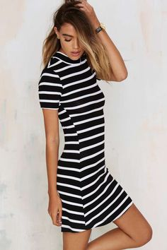 After Party Vintage Stripe Sense Tee Dress - Clothes | After Party | Day | Shift